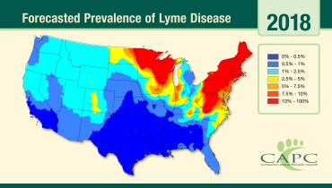 forecast map lyme disease 2018